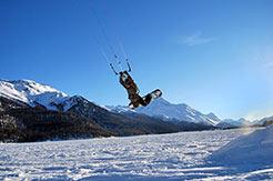 Corviglia-Marguns-Piz Nair - Snowkiting