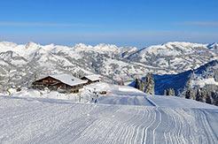 Gstaad Mountain Rides - Skipiste am frühen Morgen
