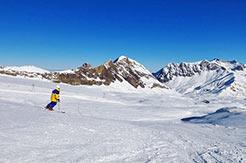 Les Diablerets - Skifahrer