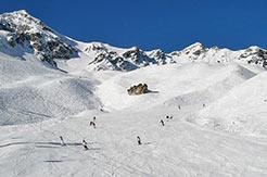 Skipiste im Skigebiet Motta Naluns