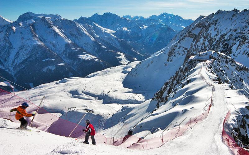 Skipiste in der Skiarena Aletsch