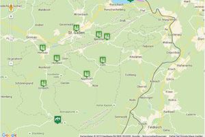 Appenzell Karte