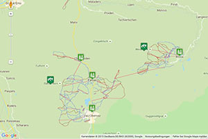 Skigebiet Arosa-Lenzerheide Karte