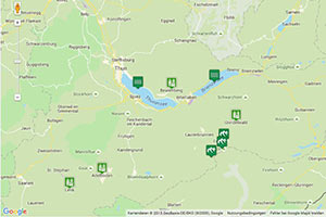 Berner Oberland Karte zur Routenplanung