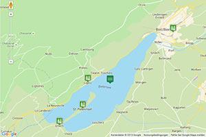 Bielersee Karte zur Routenplanung