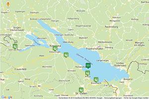 Bodensee Karte Schweiz.Bodensee Schweiz Karte Routenplaner