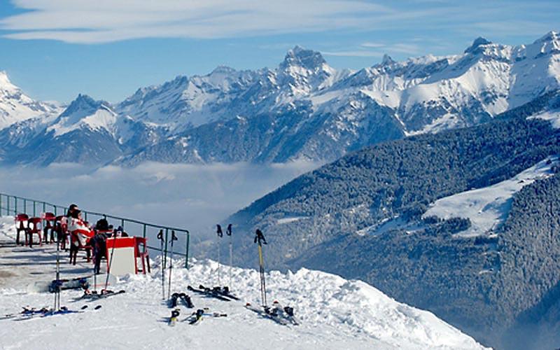 Alpiner Balkon im Skigebiet Les Portes du Soleil