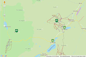 Skigebiet Corviglia Karte