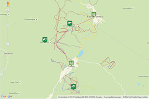 Skigebiet Davos-Klosters Mountains Karte