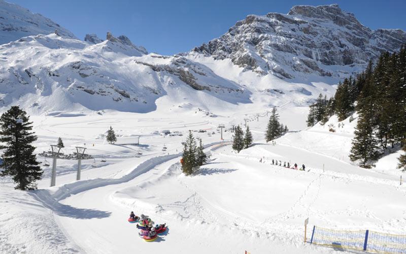 Snowtubing in Engelberg