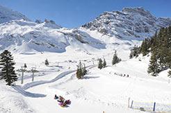 Snowtubing in Engelberg Titlis