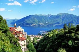 Madonna del Sasso am Lago Maggiore