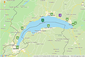 Genfer See Karte zur Routenplanung