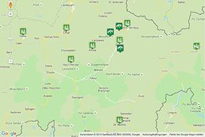 Graubünden Karte zur Routenplanung