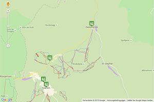 Gstaad Mountain Rides Karte zur Routenplanung