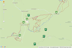 Jungfrau Ski Region Karte zur Routenplanung