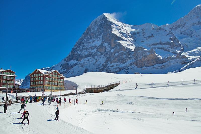 Wintersport auf der Kleinen Scheidegg