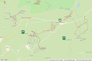 Skigebiet Les Diablerets Karte