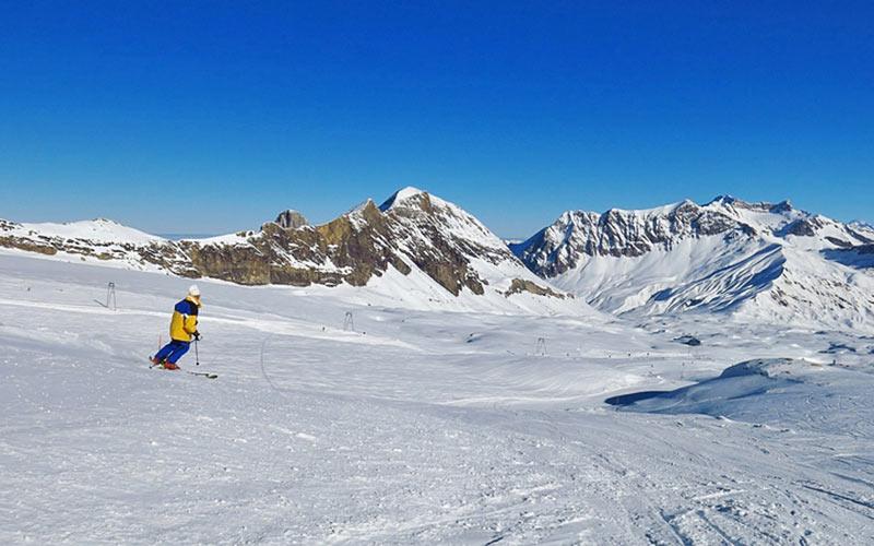 Skifahrer in Les Diablerets