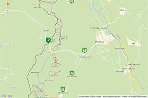 Les Portes du Soleil Karte zur Routenplanung