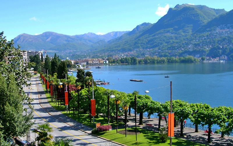 Lugano am Luganer See im Tessin