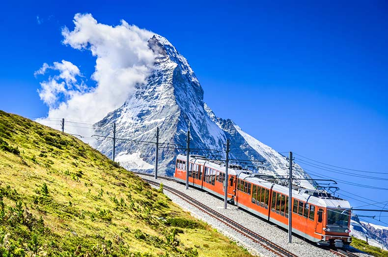 Schweiz Sehenswürdigkeiten - Matterhorn Gornergratbahn