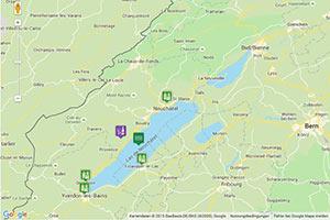 Neuenburgersee Karte