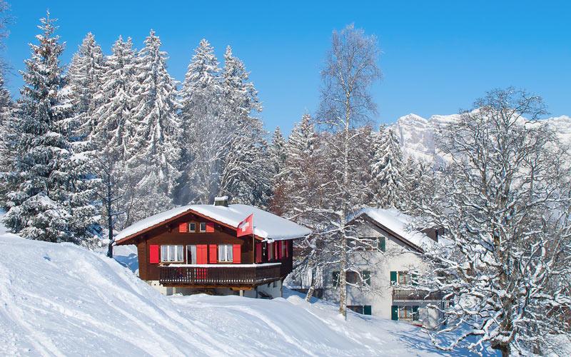 Ferienhäuser im Skigebiet Flumserberg