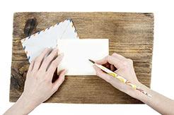 Porto der Schweiz - schreibende Hände