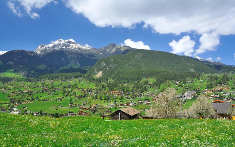Schweiz Alpenpanorama