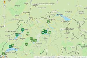 Schweizer Mittelland Karte zur Routenplanung