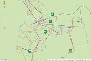 Silvretta-Arena Samnaun Karte zur Routenplanung