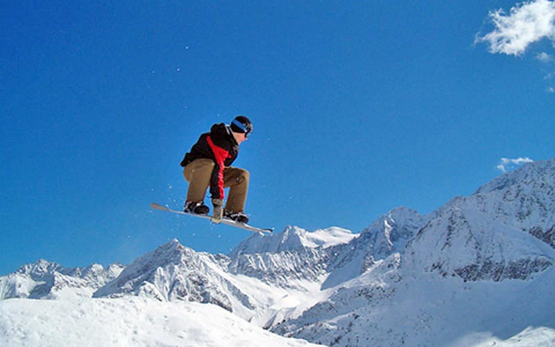 Snowboarding ist beliebt in Savognin