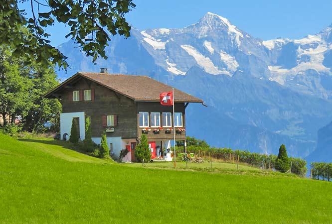 Ferienhaus in der Schweiz für Sommerurlaub