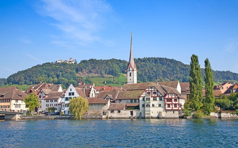 Urlaub am Bodensee - Schweiz: Ansicht von Stein am Rhein