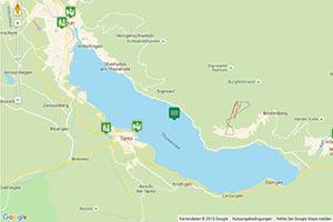 Thunersee Karte zur Routenplanung