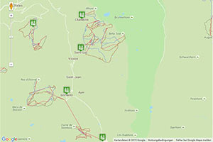 Val d'Anniviers Karte zur Routenplanung