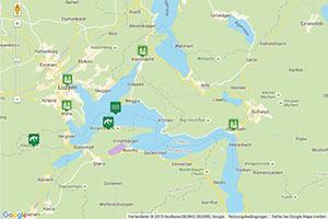 Vierwaldstättersee Karte zur Routenplanung