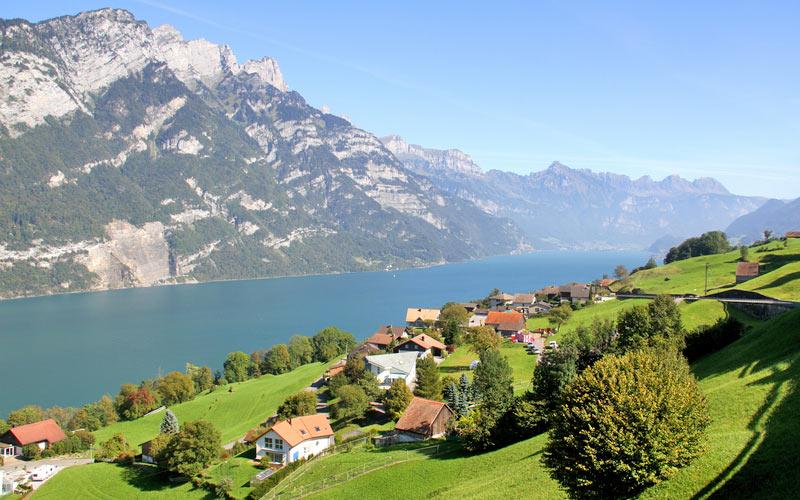 Walensee in der Ostschweiz