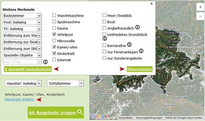 Besondere Ferienhäuser und Ferienwohnungen in der Schweiz