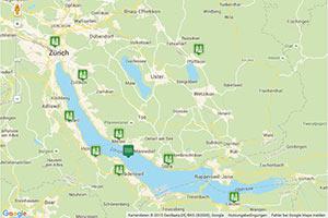 Zürichsee Karte zur Routenplanung